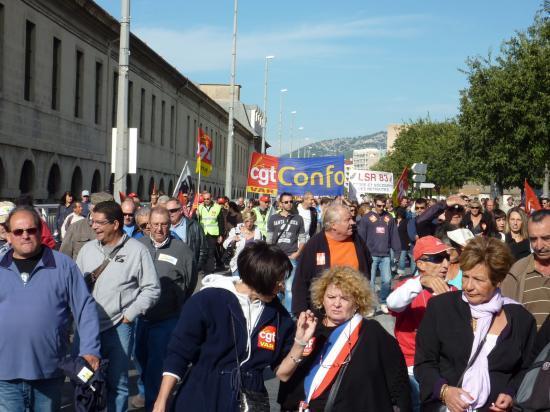 manifestation du 12 Octobre à toulon