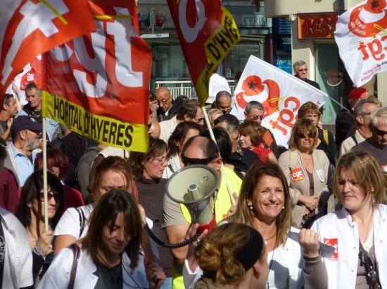 manifestation du 12 Octobre à toulon