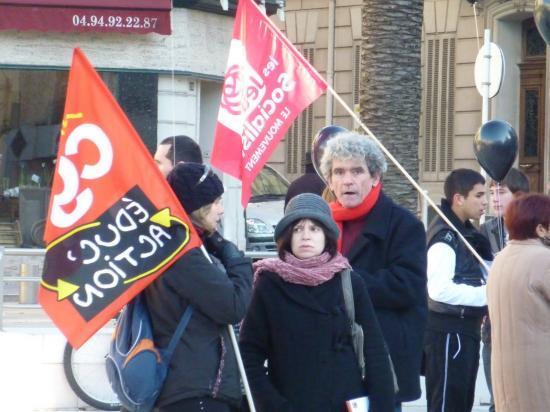 manifestation à Toulon le 22/01/2011