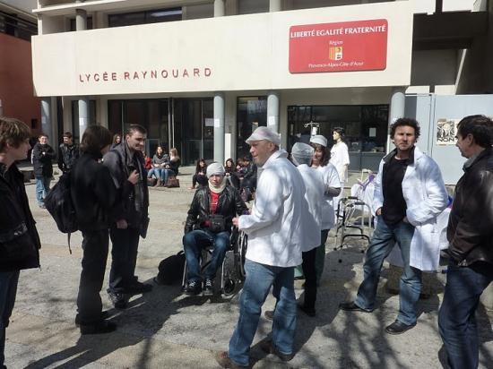mobilisation lycée raynouard