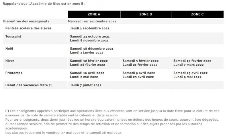 Calendrier Titularisation Stagiaires 2022 Calendrier scolaire 2021 2022